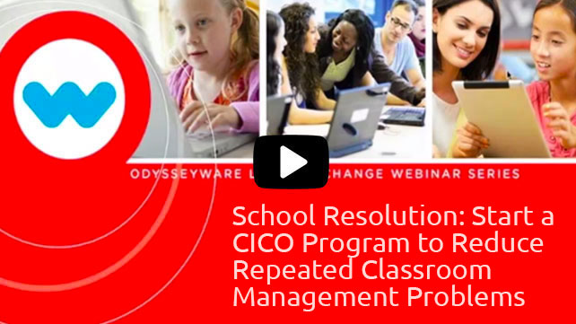 School Resolution: Start a CICO Program to Reduce Repeated Classroom Management Problems